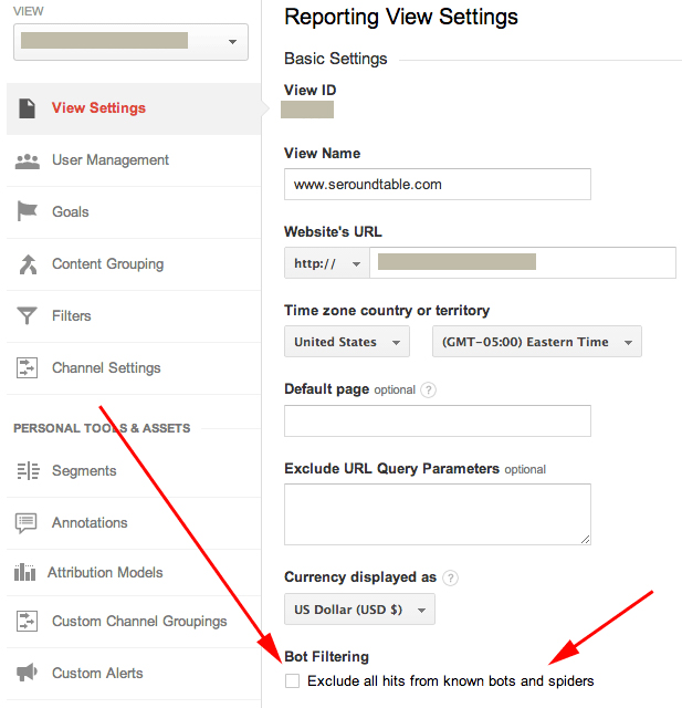 Spider and Bots Filtering in Google Analytics
