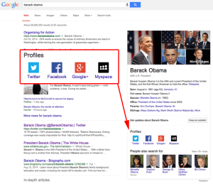Social Profile Links Added To The Google Knowledge Panel
