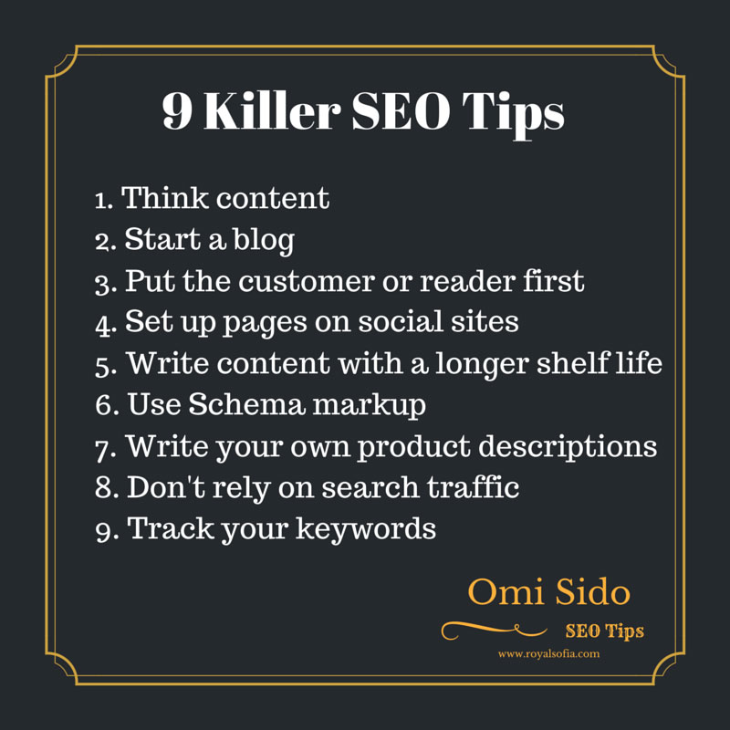 9 Killer SEO Tips
