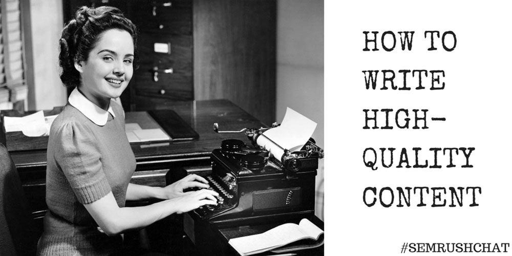 How to Write High-Quality Content