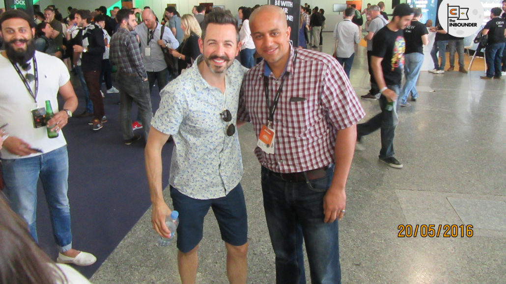 Omi Sido and Rand Fishkin at the Inbounder 2016 Global Conference