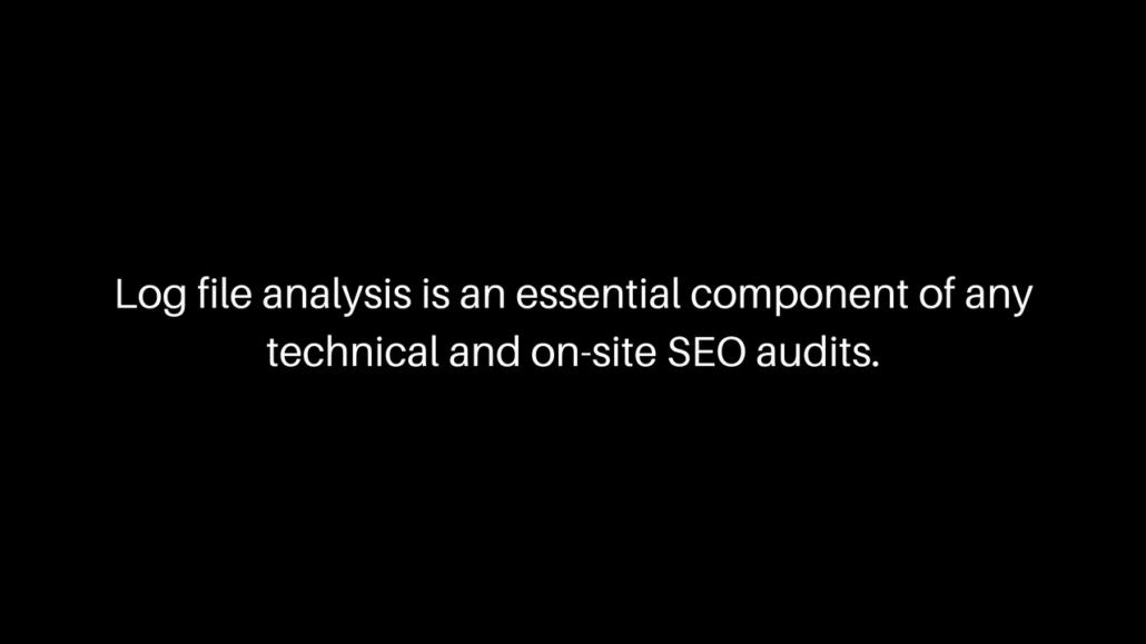 Server logs analysis