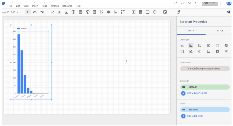 Better view Canvas Size in Google Data Studio