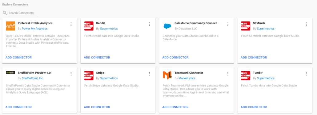Community Connectors in Google Data Studio