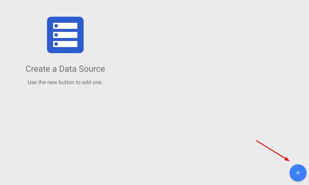 Create a data source in google data studio