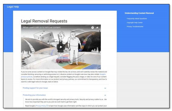 Legal Help - Google Data Studio