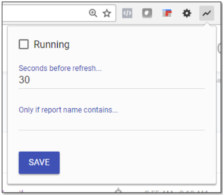 Real time reporting in Google Data Studio