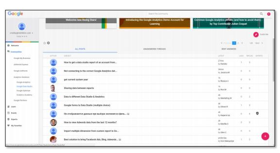 Request button in Google Data Studio
