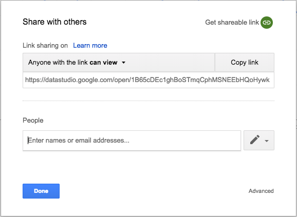 Share report in Google Data Studio