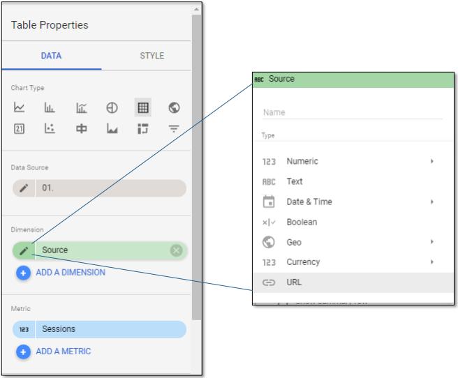 URL Field Type in Google Data Studio