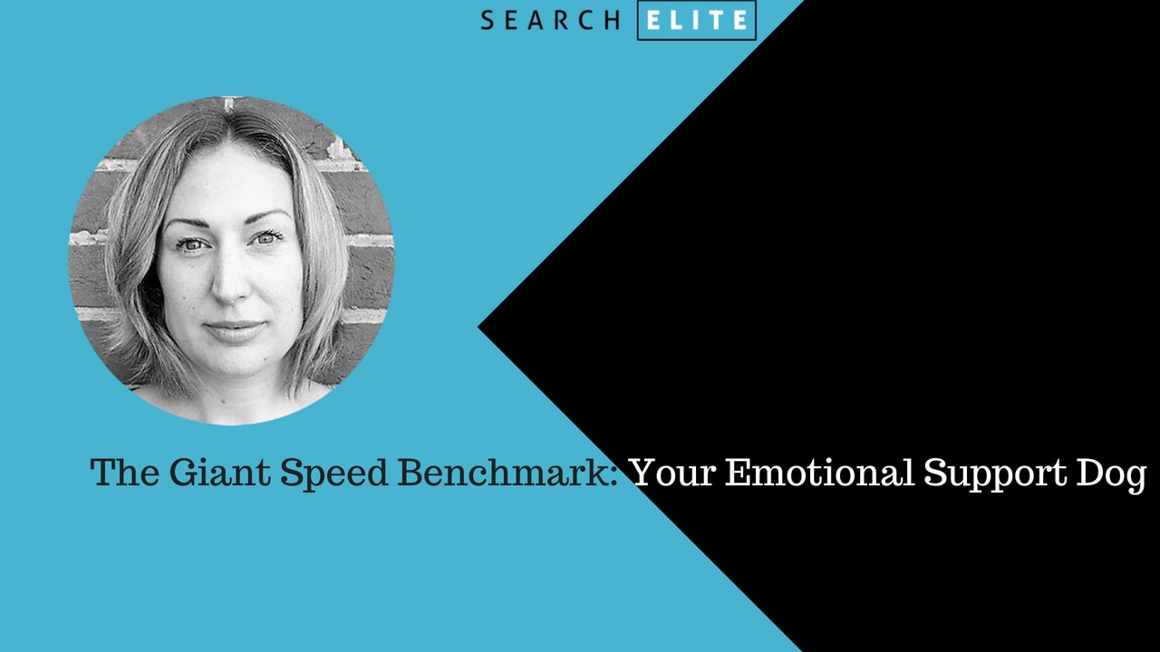 The Giant Speed Benchmark: Your Emotional Support Dog - Nichola Stott