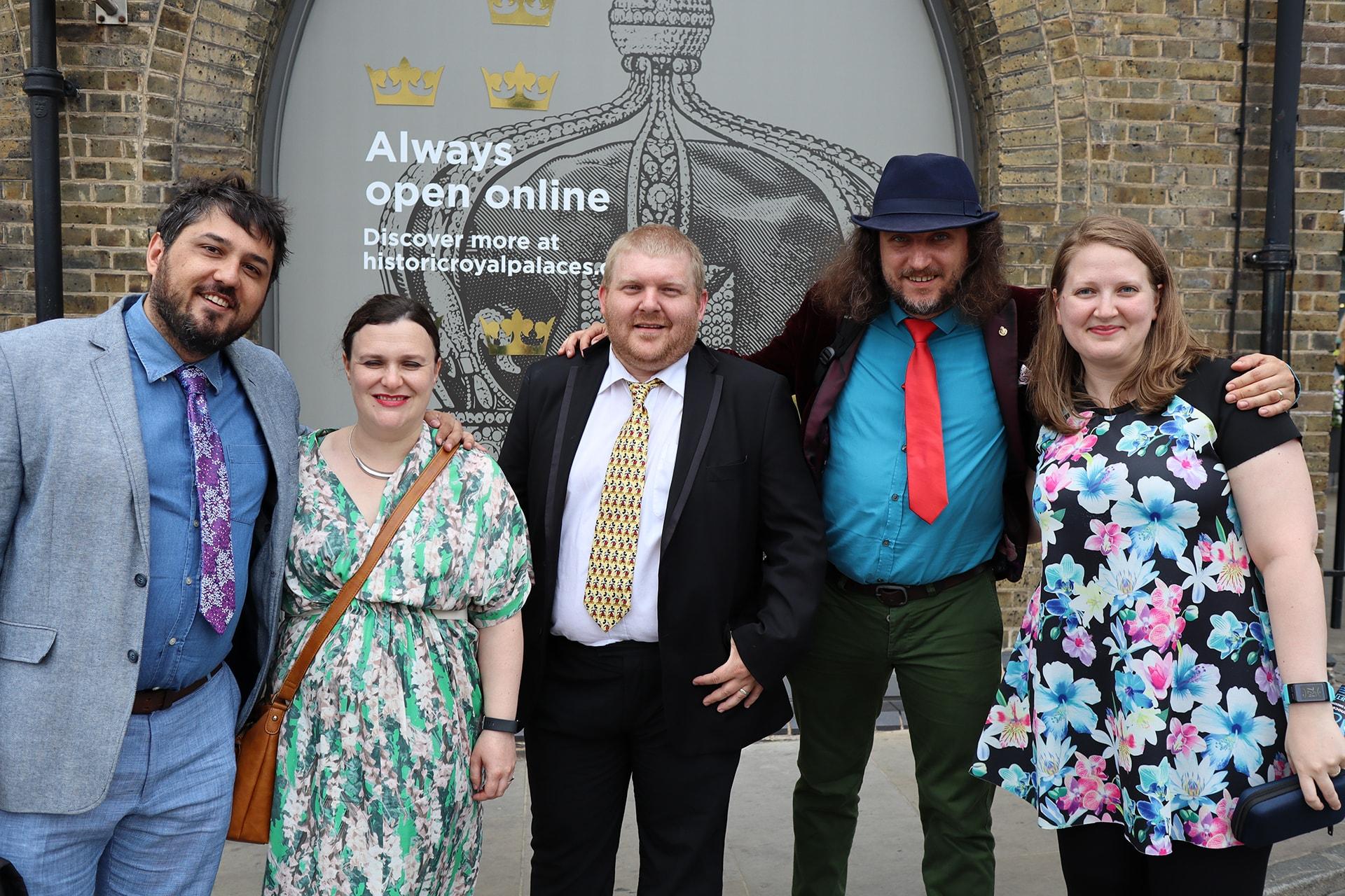 David Iwanow with Dom Hodgson, Lukasz Zelezny and Arianne Donoghue