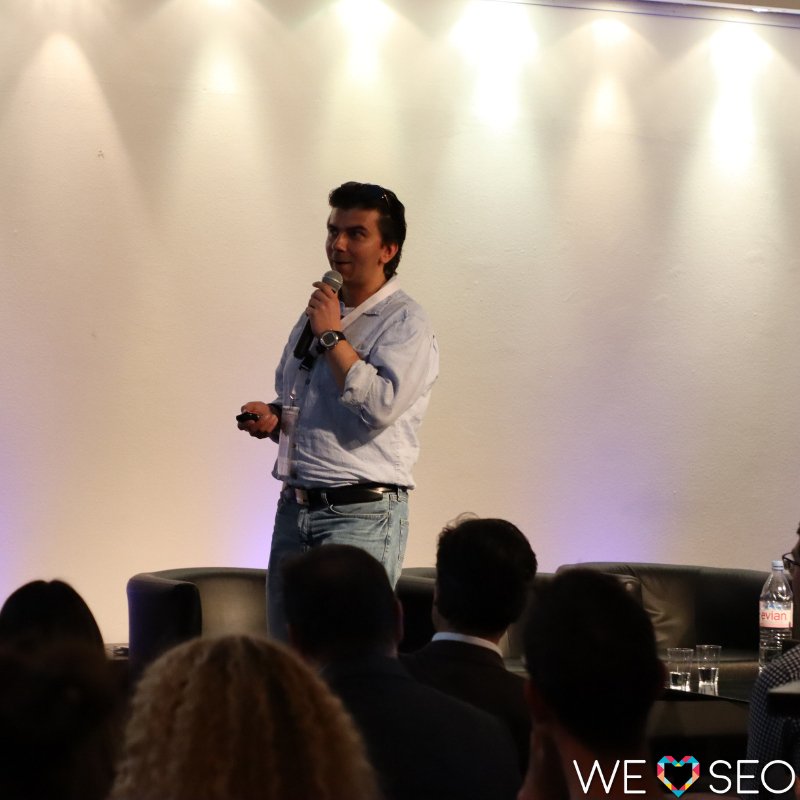 Gary Illyes at the We Love SEO conference