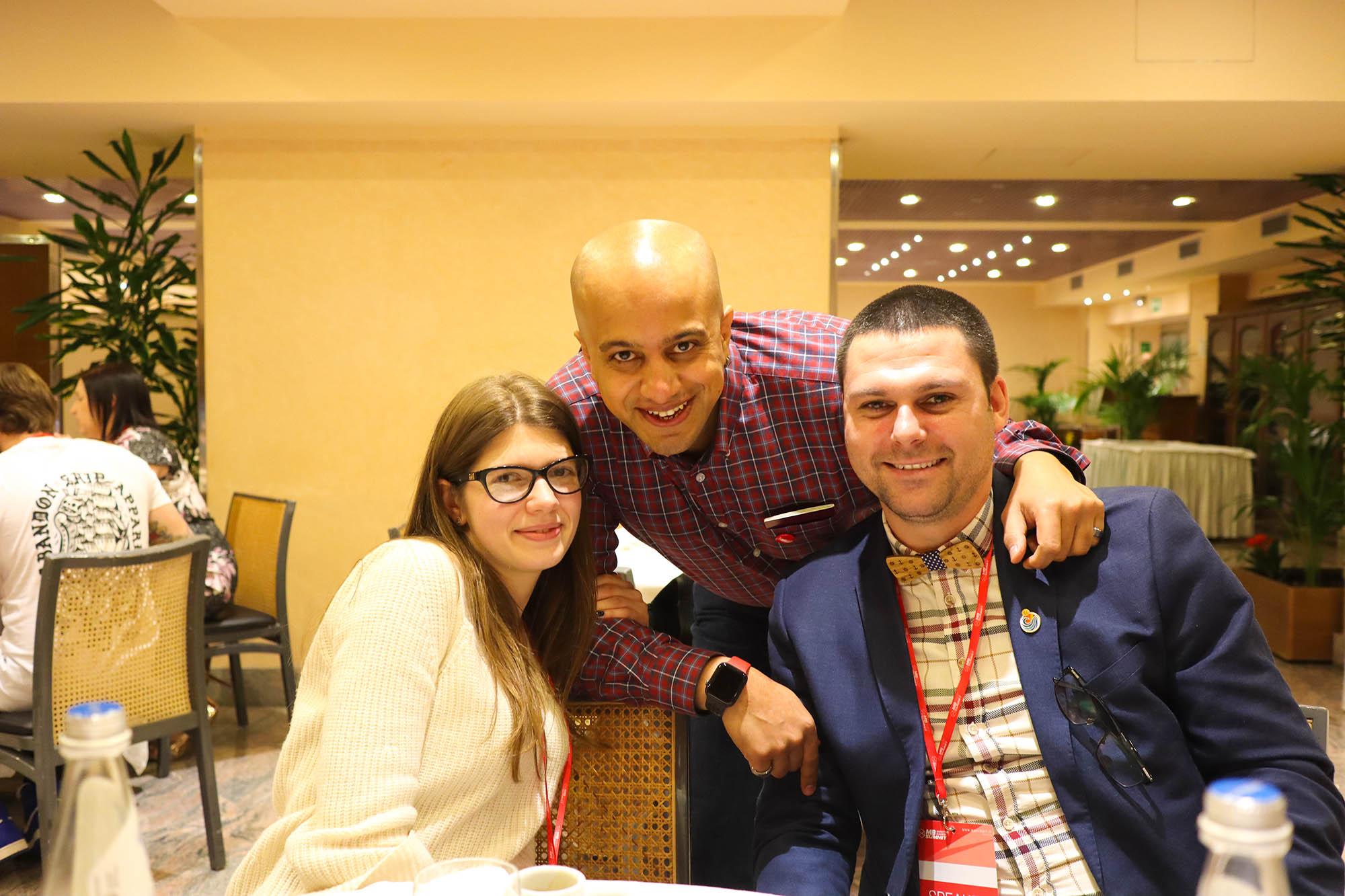 With Alexandra Tachalova and Nikola Minkov