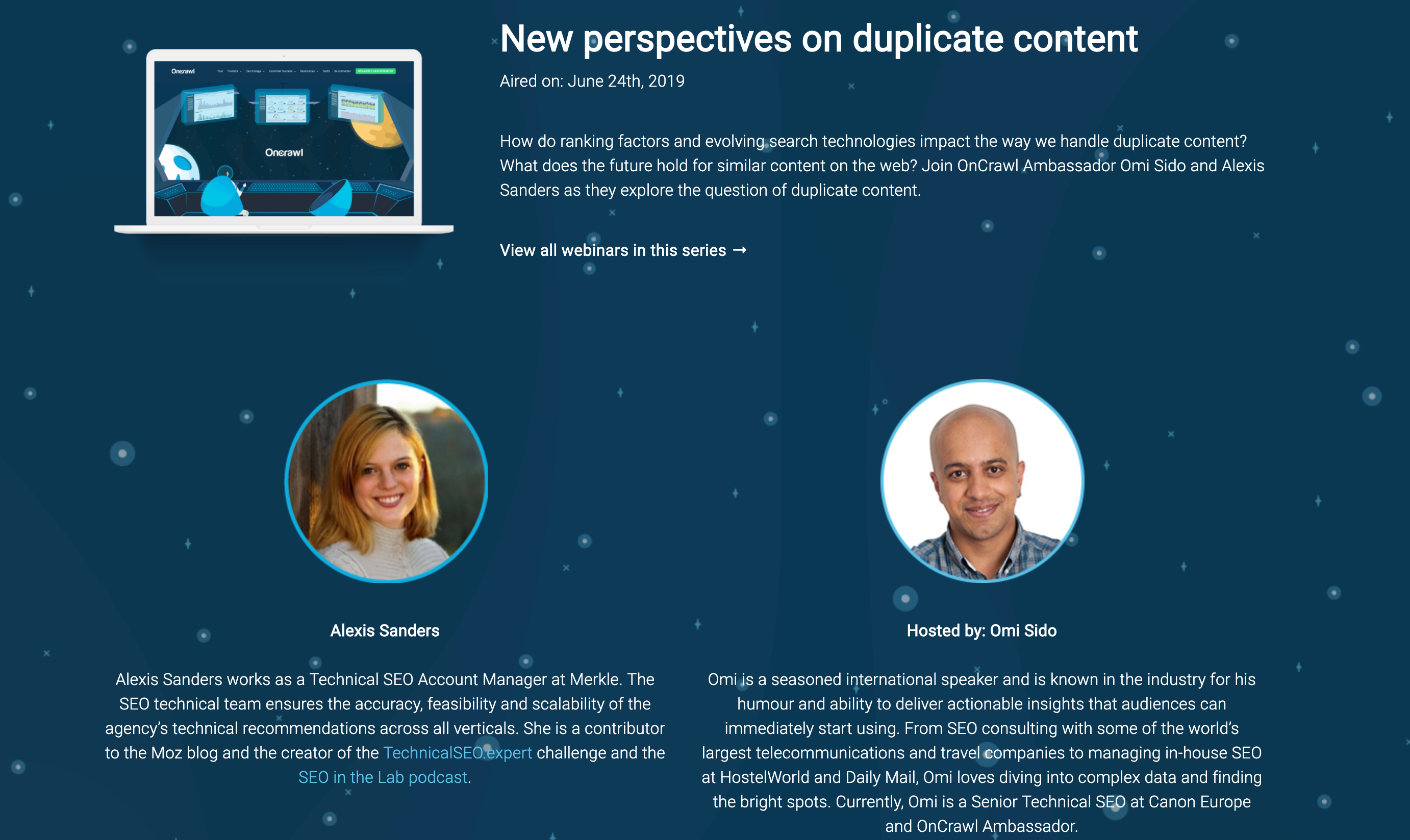 New perspectives on duplicate content