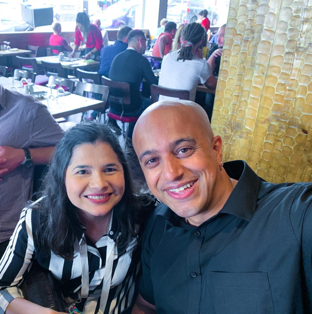 Aleyda Solis and Omi Sido at BrightonSEO