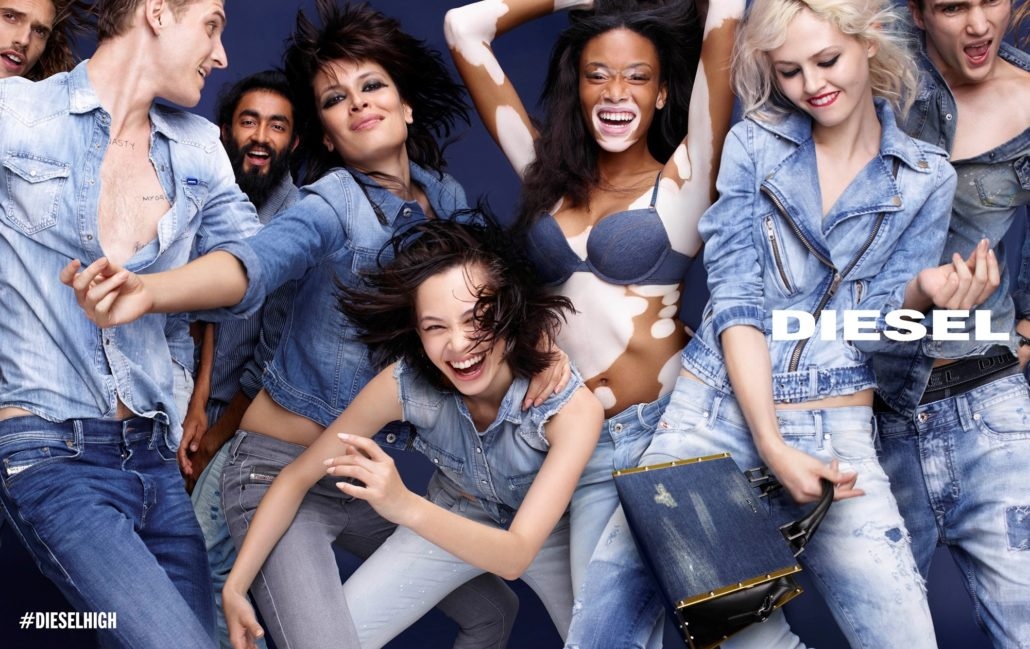 Diesel groundbreaking ad that placed model Winnie Harlow, who suffers vitiligo, in the spotlight. Harlow's recent ascent within the fashion industry - she is also the face of Desigual - has diversified cultural representations of beauty and challenged ideas of perfection commonly expected of models.