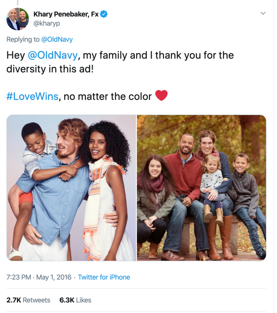 Old Navy multicultural advert