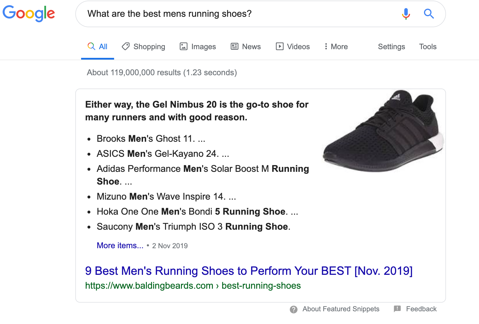 'People also ask' as a featured snippet