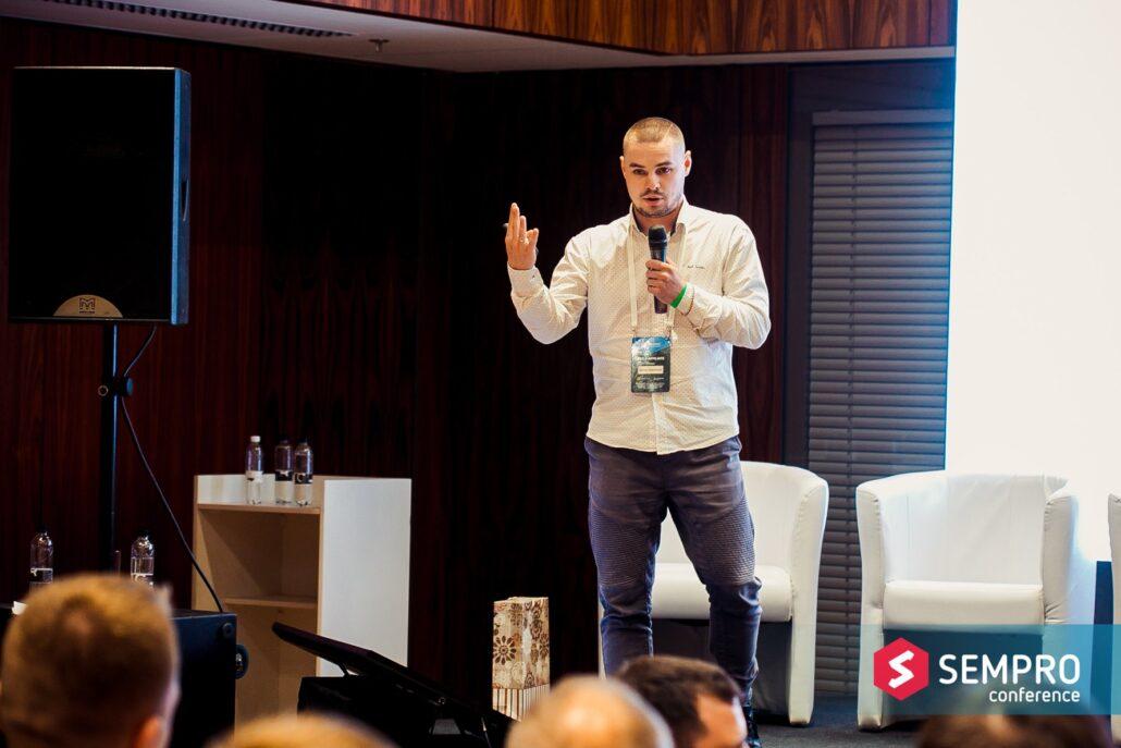 Denis Narizhny at SEMPRO SEO & Affiliate conference