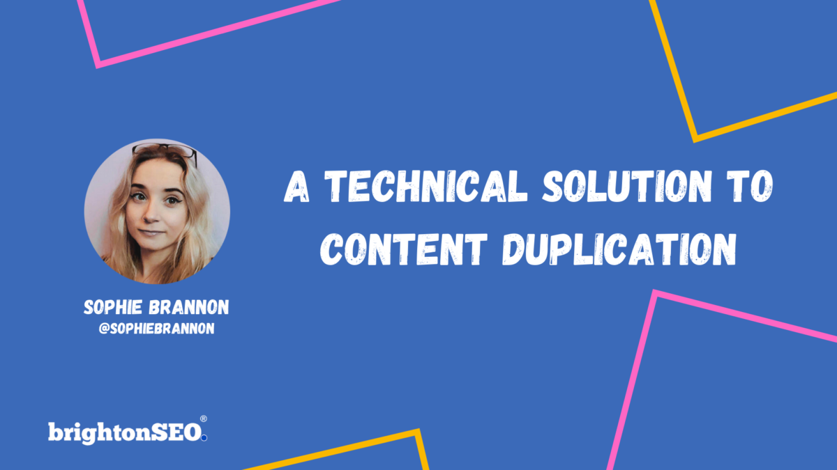 A Technical Solution To Content Duplication